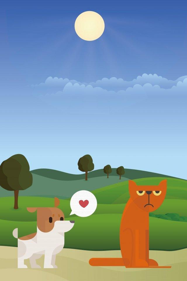 犬猫愛動物 イラスト画像