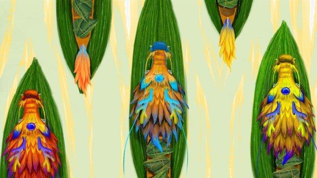 龍舟龍舟粽子綠 插畫素材 插畫圖片