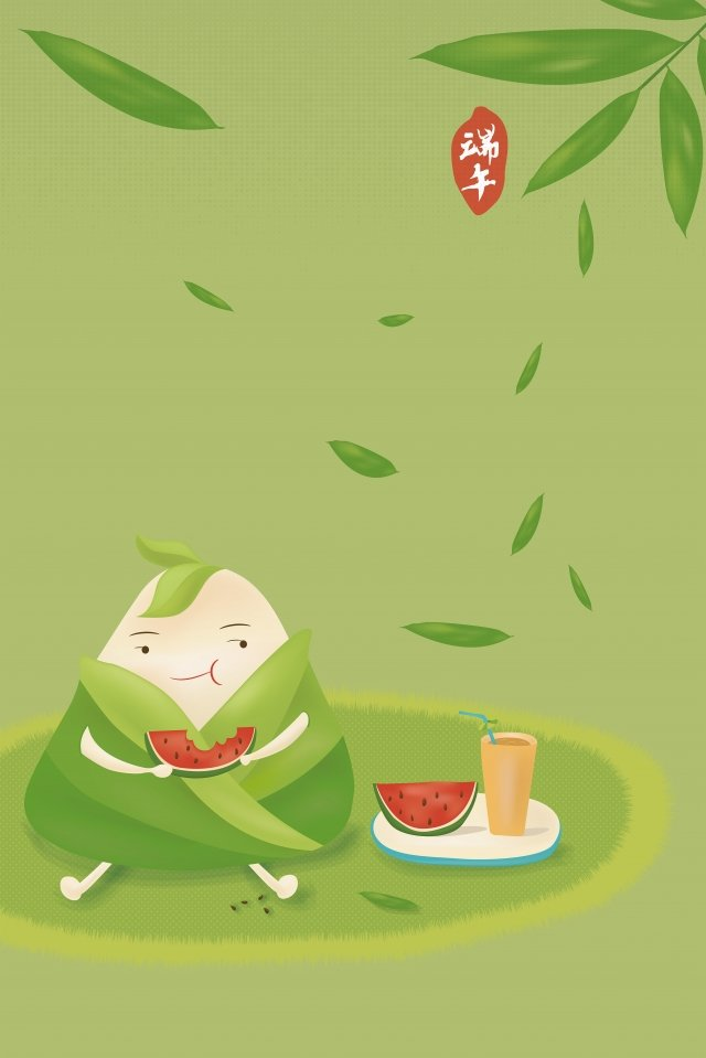 dragon boat festival eating hazelnuts of watermelon cartoon q version of the dice dragon boat festival illustration, Scorpion Image, Fifth May, Zongzi illustration image