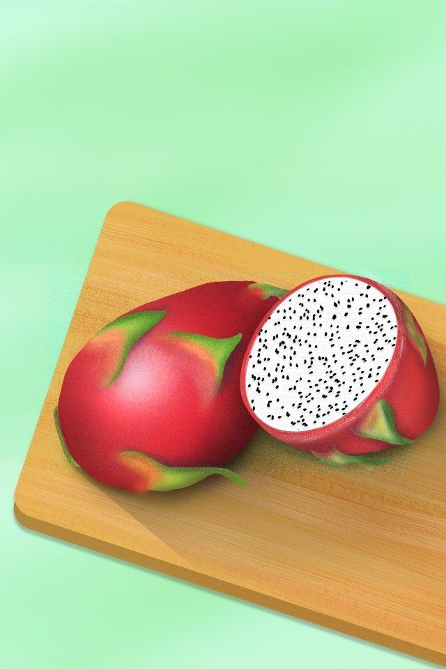 龍果子食物果子例證 插畫圖片