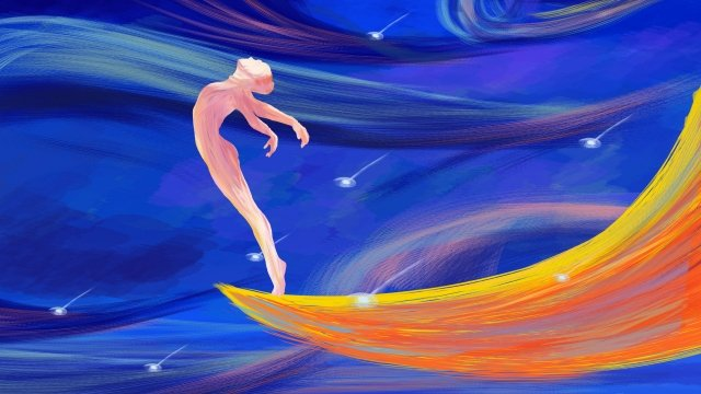 dream beautiful girl dance, Beautiful, Dream, Girl illustration image