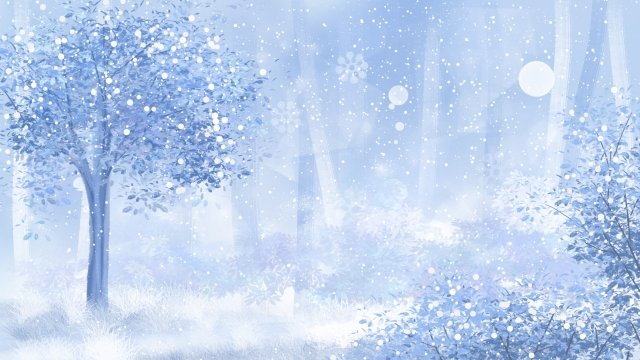 dream beautiful snow scene landscape llustration image