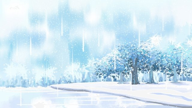dream winter landscape snow scene llustration image