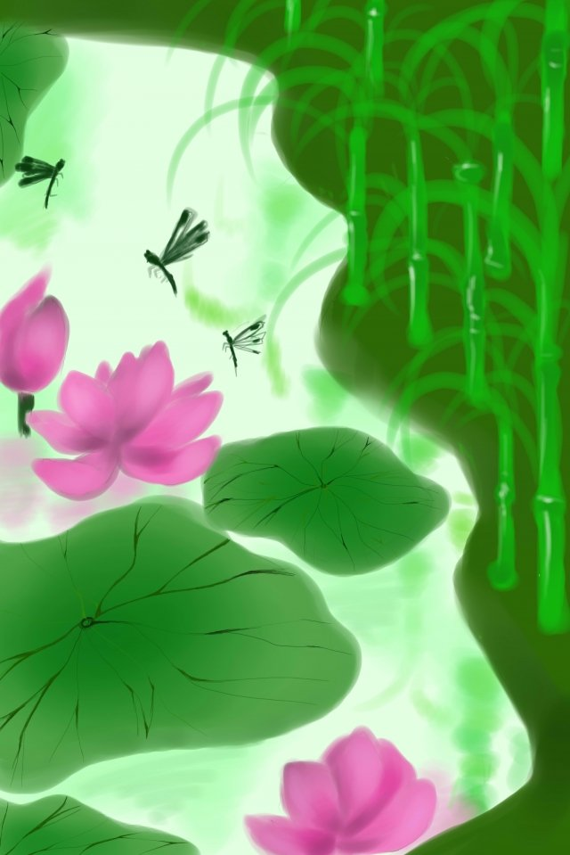 early summer lotus natural fresh llustration image illustration image
