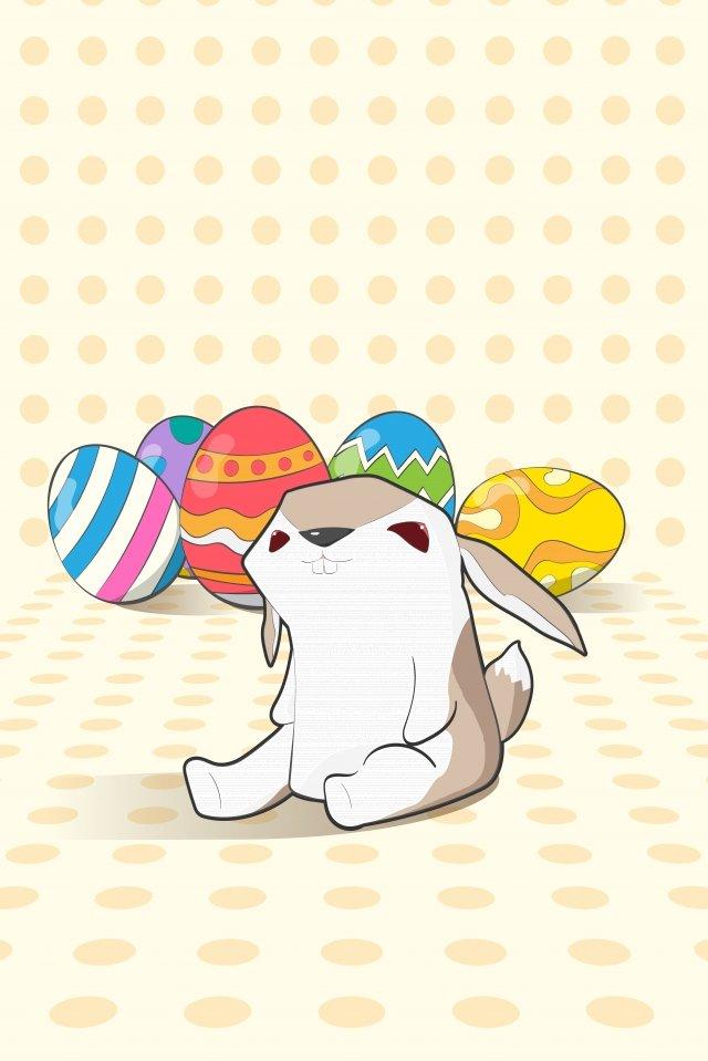 egg easter rabbit background image, Illustration, Lovely, Meng illustration image