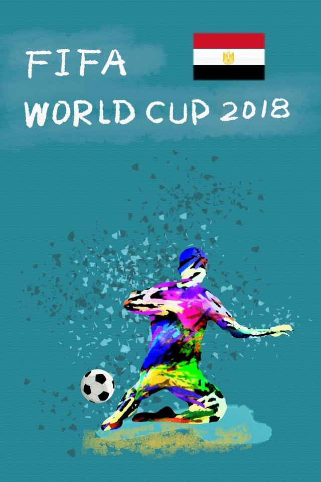 エジプトサッカーワールドカップ2018 イラスト素材
