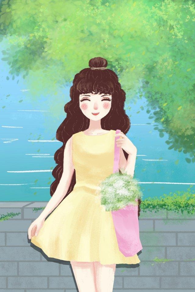 感情キャラクター女の子女の子 イラスト素材