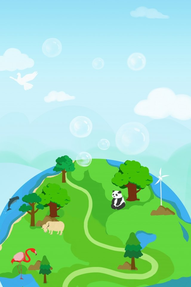 environmental protection care for the environment green earth green, Energy Saving, Environmental Theme, Protect The Animals illustration image