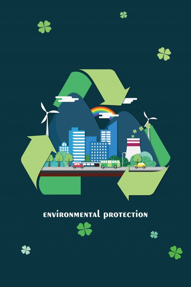 environmental protection green city cycle fresh air llustration image