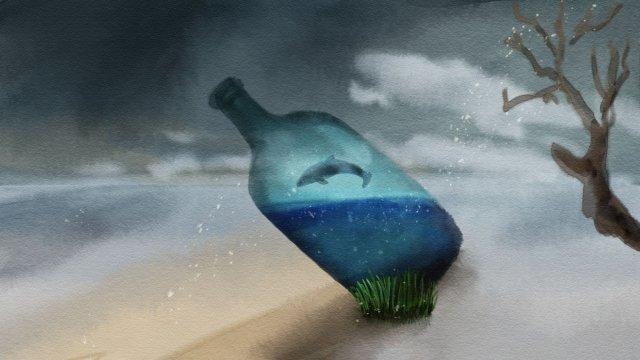 bảo vệ môi trường tài nguyên nước thiếu chai thủy tinh Hình minh họa
