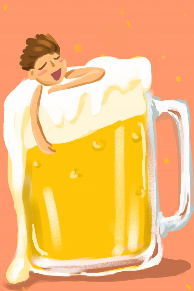 ヨーロッパスタイルのイラストビールビール祭り イラストレーション画像