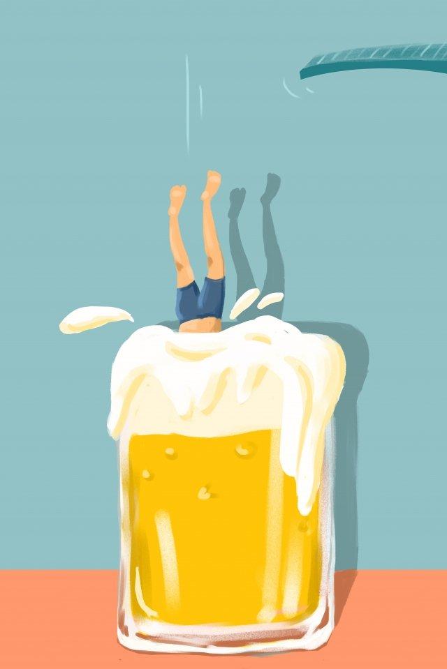 ヨーロッパスタイルのイラストビール祭りビール イラストレーション画像 イラスト画像
