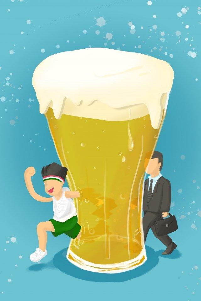ヨーロッパスタイルのイラストビール祭りビール イラストレーション画像