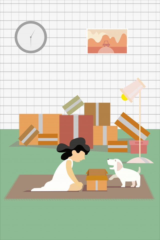 express delivery green pet festival, Air, Illustration, Express Delivery illustration image