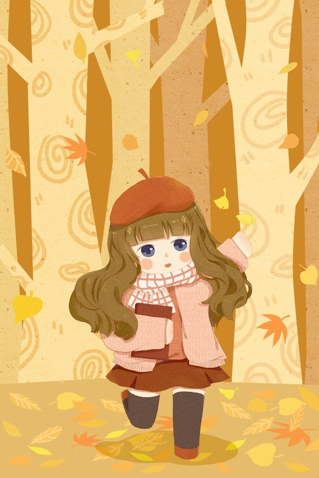 fall autumn autumn day fallen leaves llustration image