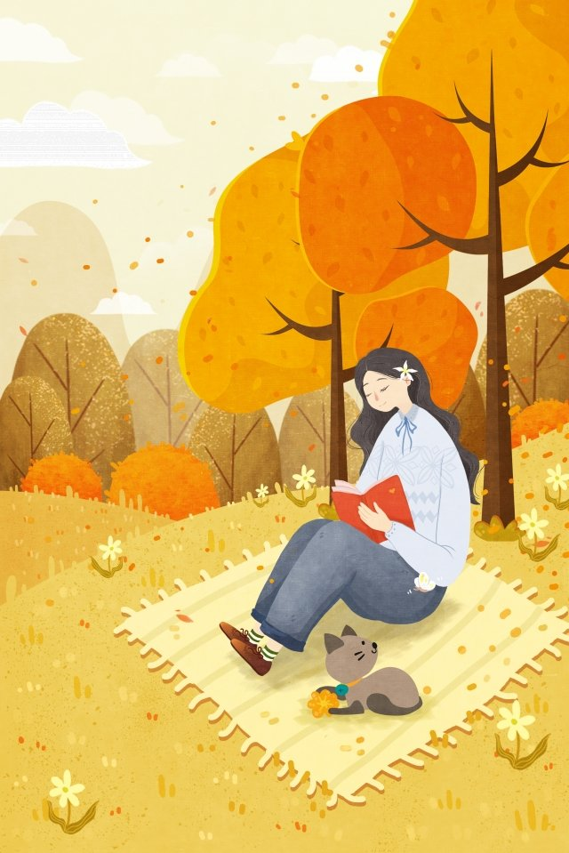 fall autumn color leaf yellow llustration image illustration image