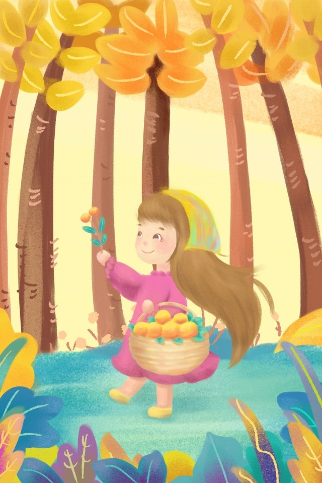 fall autumn picking harvest countryside tour llustration image
