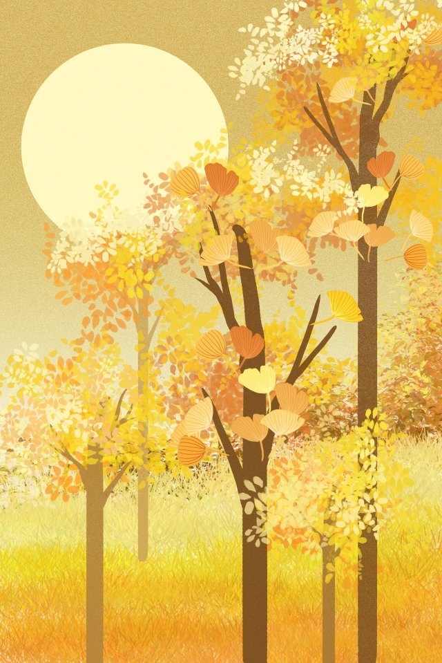 fall autumn wind autumnal golden autumn, Autumn, Autumn Scenery, Landscape illustration image
