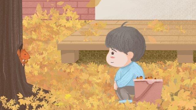 fall autumnal autumn autumn, Pine, Cones, Autumn illustration image