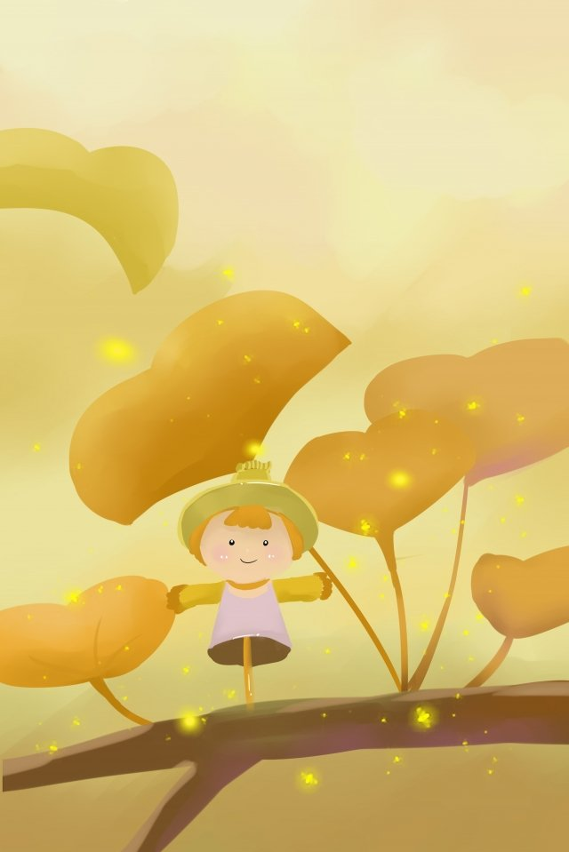 fall leaf yellow withered yellow llustration image illustration image