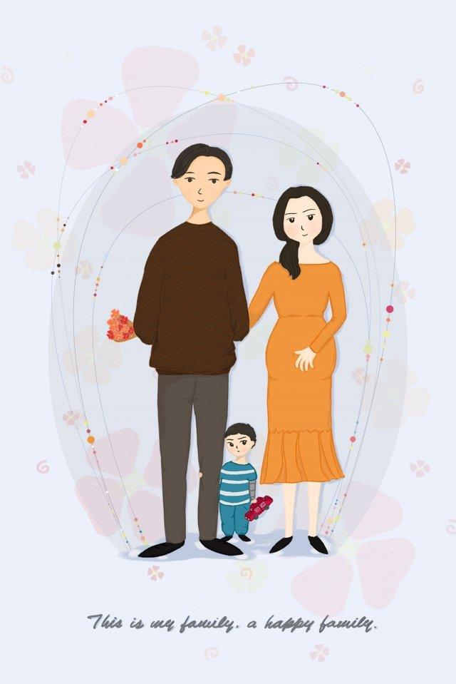 家庭的家庭母親和嬰兒背景 插畫素材