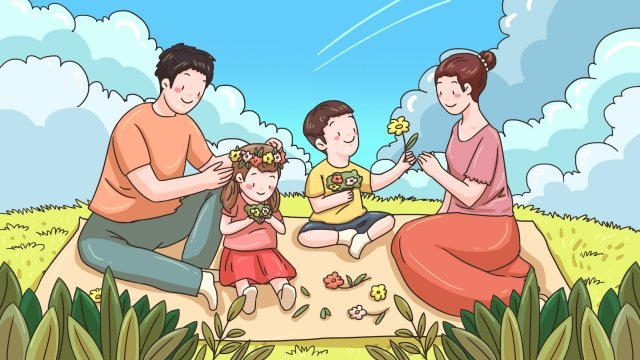 family family parents child llustration image