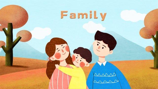 家族の遠出暖かい旅行 イラスト素材 イラスト画像