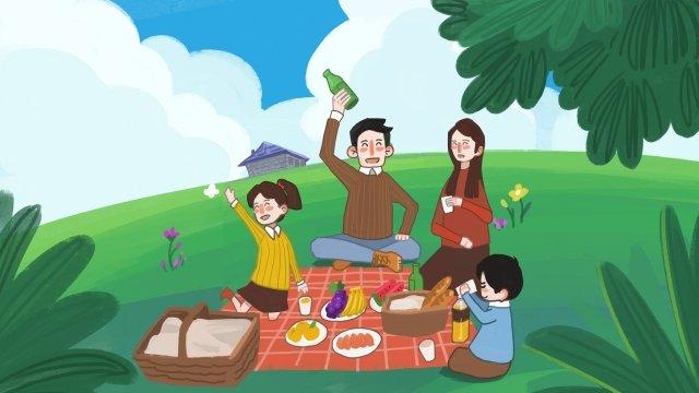 family tourism travel holiday llustration image illustration image