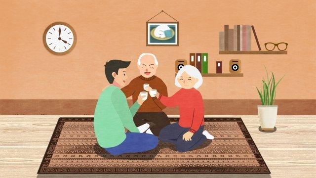 family warm reunion gather together llustration image