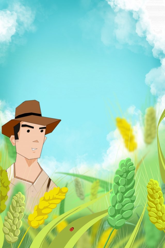 farmer farmer wheat xiaoman, Sunlight, Fruit, Cereals illustration image