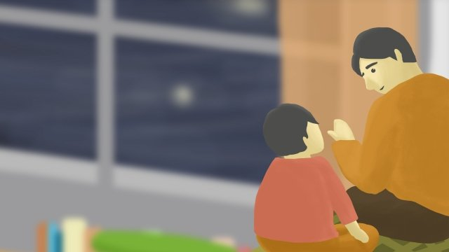 父と息子の対話が父の日とコミュニケーションをとる イラスト素材 イラスト画像
