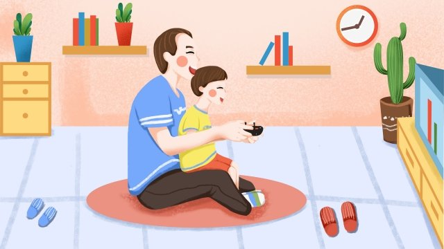 fathers day father and son playing games happy fathers day llustration image illustration image