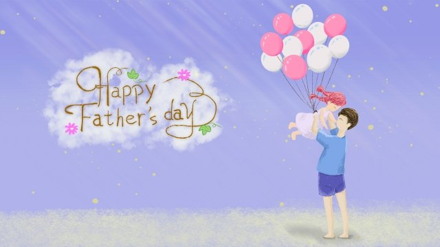 fathers day father high little girl llustration image