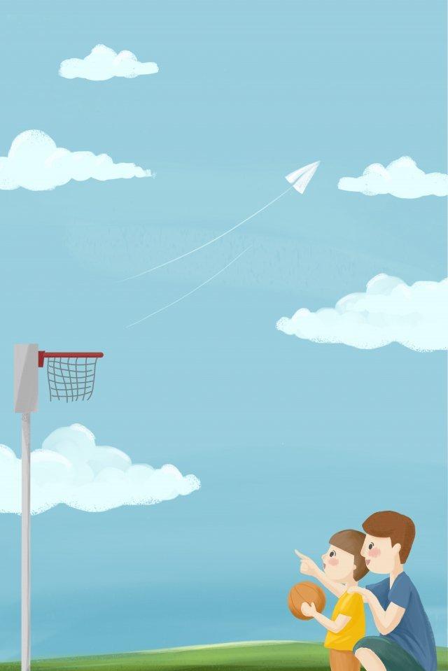 पिता दिन चित्रण पिता और पुत्र बास्केटबॉल खेलते हैं चित्रण छवि चित्रण छवि