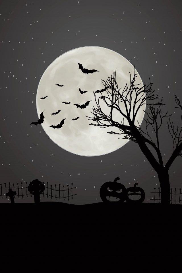축제 할로윈 테러의 밤 삽화 소재 삽화 이미지