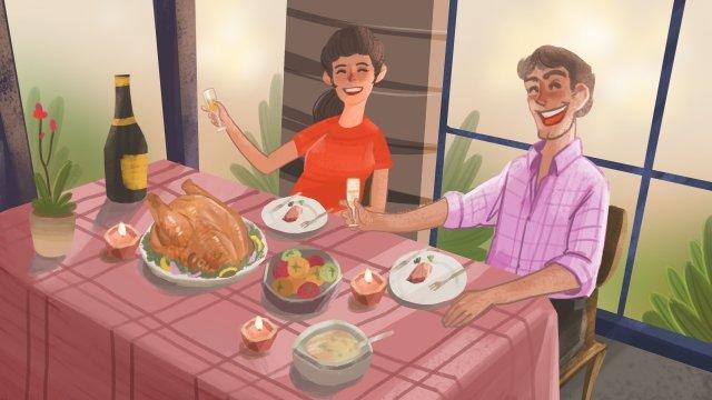 축제 추수 감사절 칠면조 캐릭터 삽화 소재 삽화 이미지