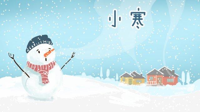 눈 축제 osamu snow scene snowman 삽화 소재 삽화 이미지