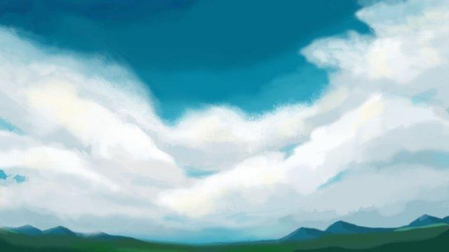 field vast refreshing sky llustration image