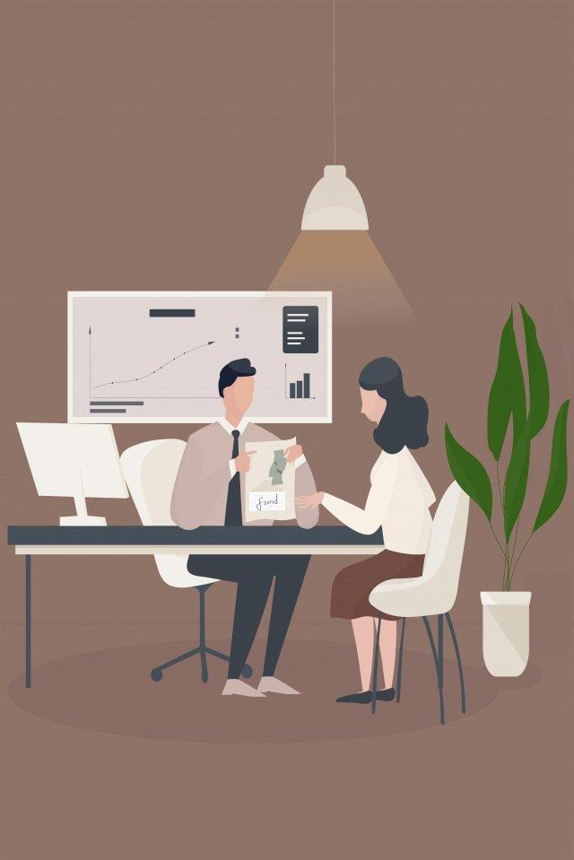 финансовый консультант по финансовому управлению Иллюстрация изображения