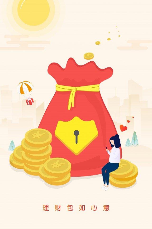 финансовый финансовый менеджер девушка монета Ресурсы иллюстрации