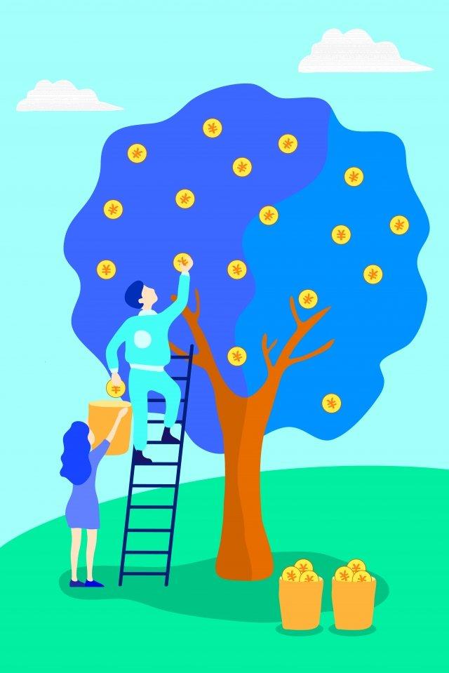монета дохода от финансовых инвестиций Ресурсы иллюстрации