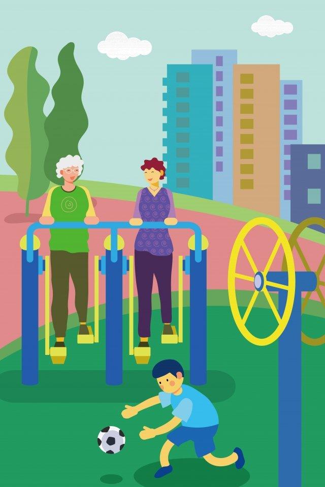 фитнес сообщество движение всех людей Иллюстрация изображения