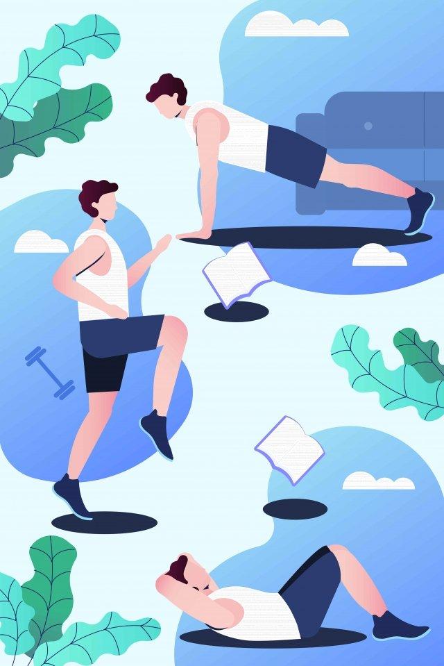 fitness motion power training illustration image