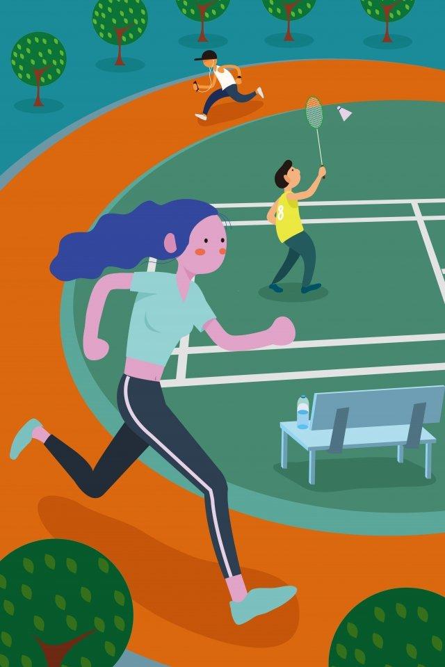 fitness motion run track illustration image