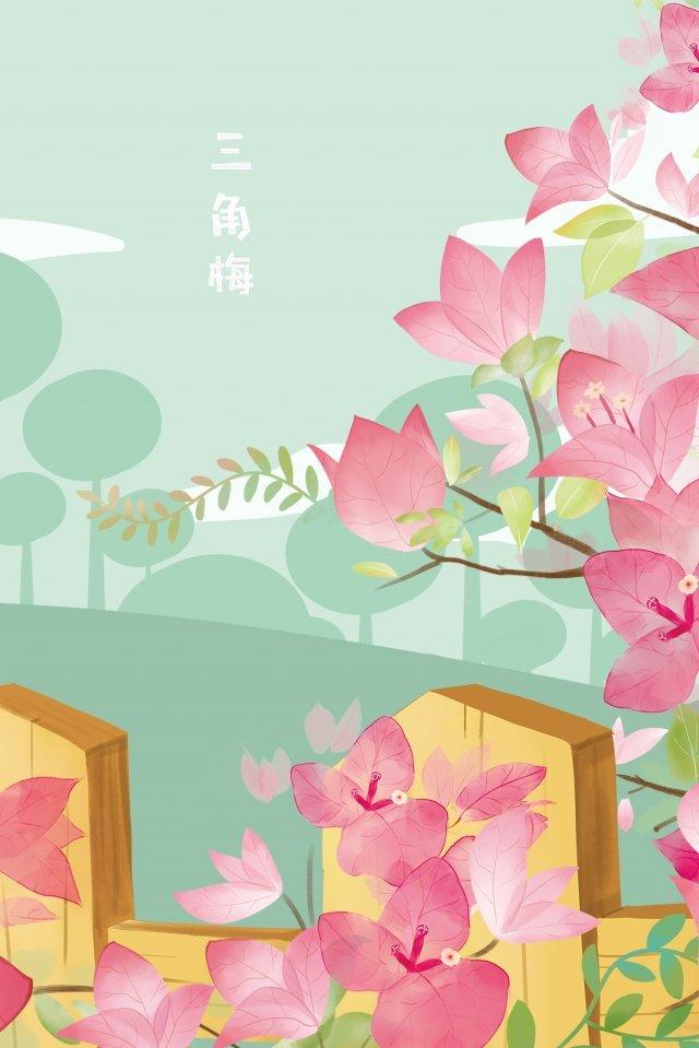 flower flowers bougainvillea ledu, Trefoil, Flowers, Flower illustration image