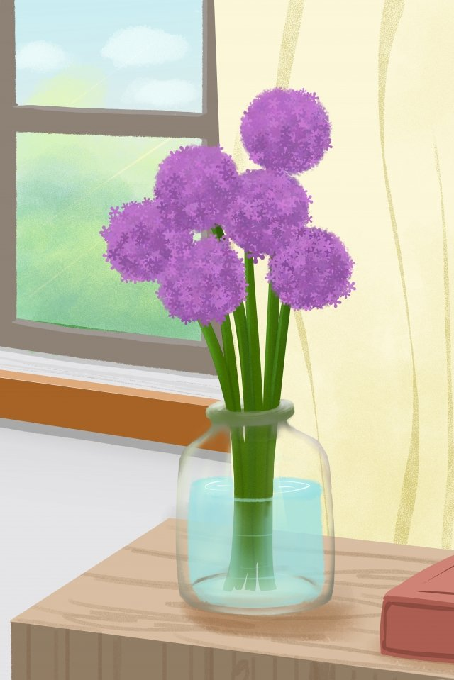花卉花卉畫大蔥 插畫素材 插畫圖片