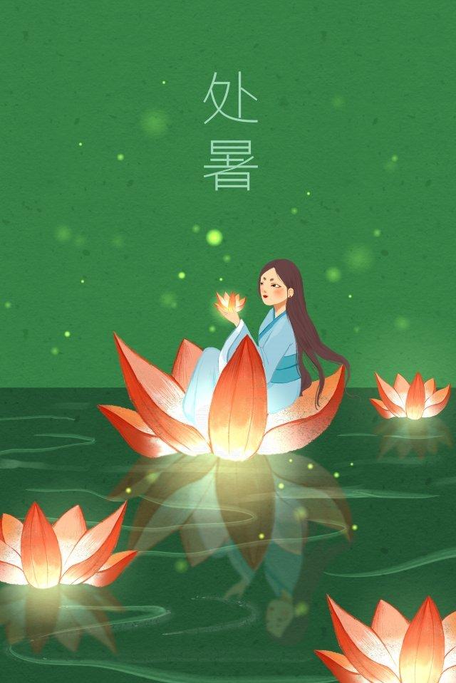 flor luz estanque loto hermosa Imagen de ilustración