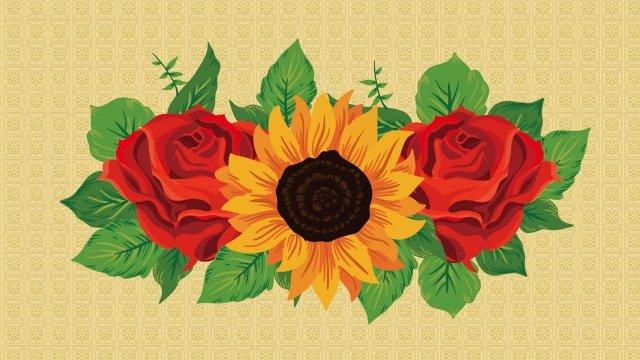 flower painting flower rose chrysanthemum, Chrysanthemum, Flower Painting, Flower illustration image