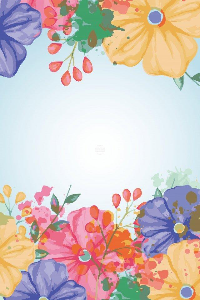 花卉繪畫手繪朵羅花 插畫素材 插畫圖片