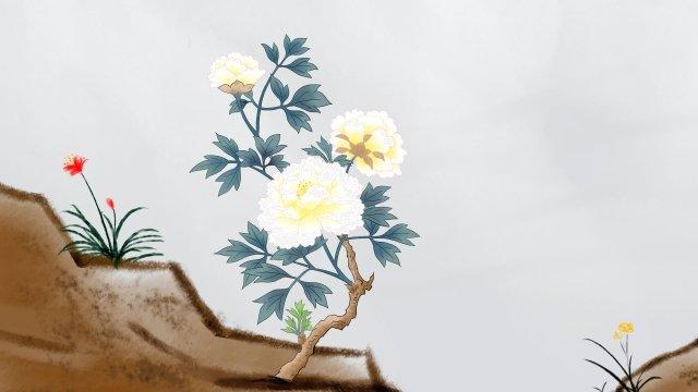 花植物古代中国のスタイル イラスト素材 イラスト画像